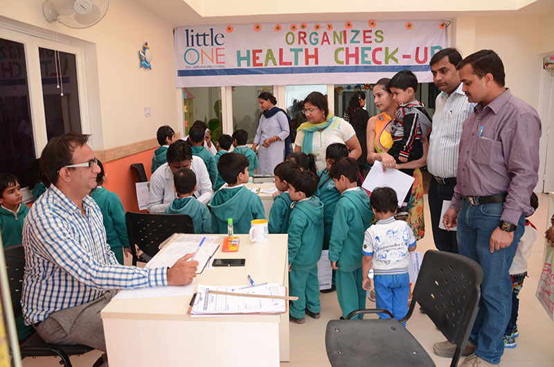 Little One The Jaipuria PreSchool Organised Health Check-Up